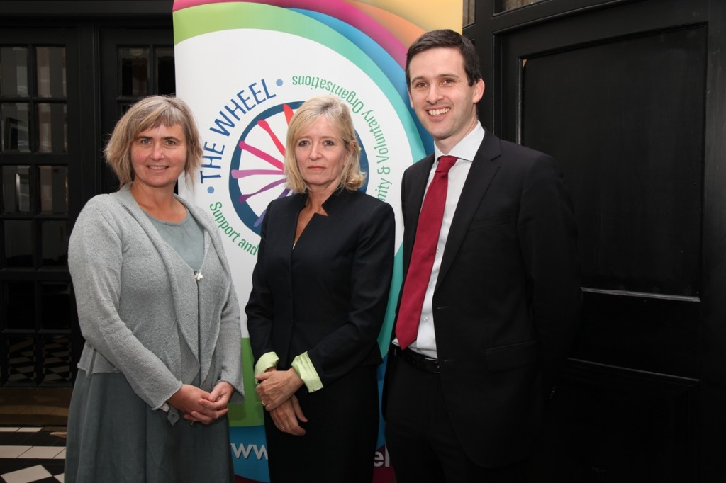 Deirdre Garvey (CEO of The Wheel), Emily O'Reilly (European Ombudsman) and Ryan Meade (People's Conversation programme leader)