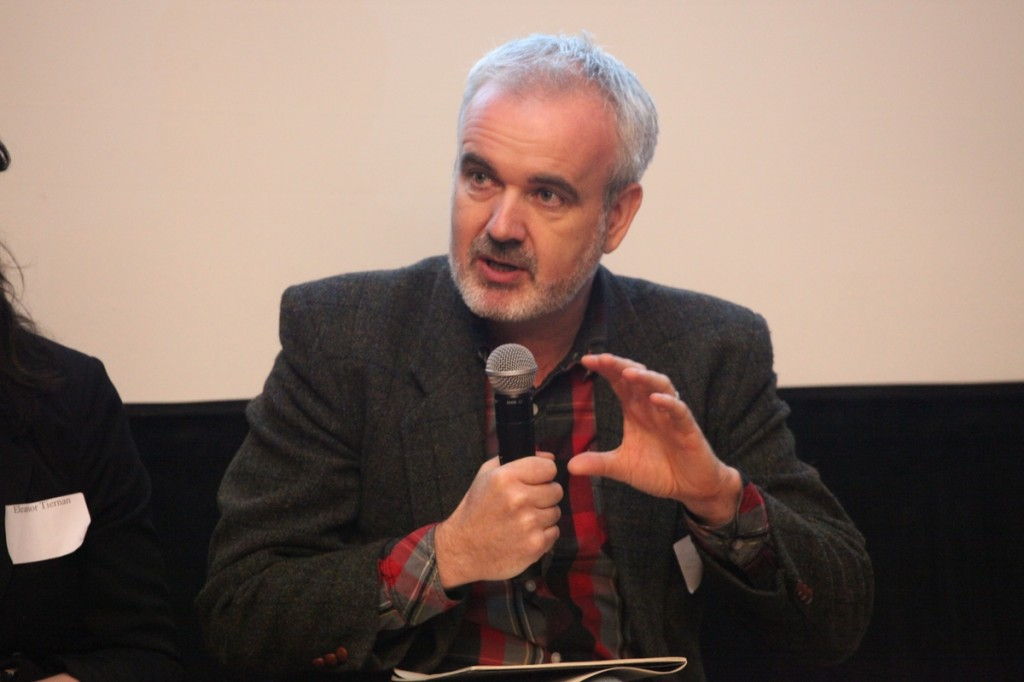 Colm O'Gorman speaks during the public conversation