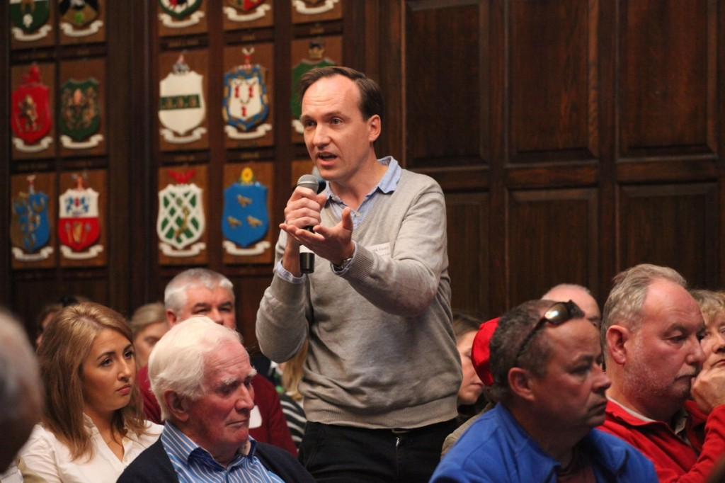 Frank Geary of the Irish Development Education Association makes a point from the floor