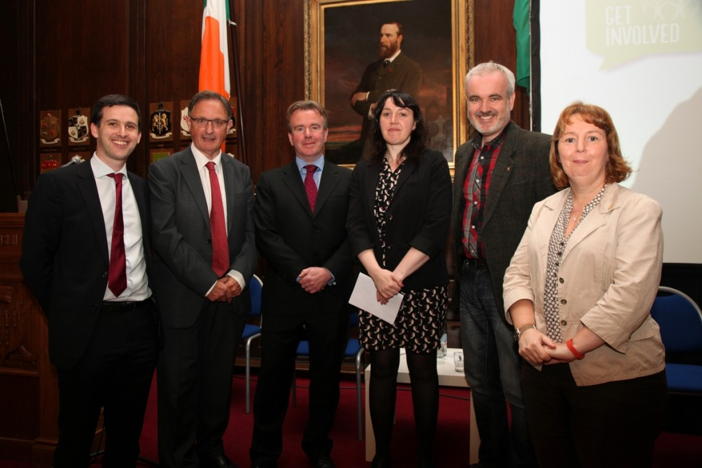 (l-r) Ryan Meade, Fergus O'Ferrall, Tom Clonan, Eleanor Tiernan, Colm O'Gorman, Jillian van Turnhout